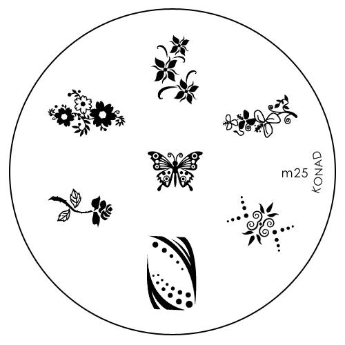 Konad Печатная форма (диск) M25 image plateSN-IPM025Диск для стемпинга. Теперь создавать дизайны на ногтях стало очень просто