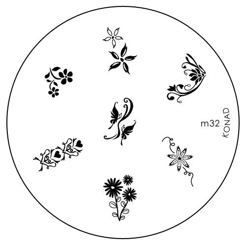 Konad Печатная форма (диск) M32 image plateSN-IPM032Диск для стемпинга. Теперь создавать дизайны на ногтях стало очень просто