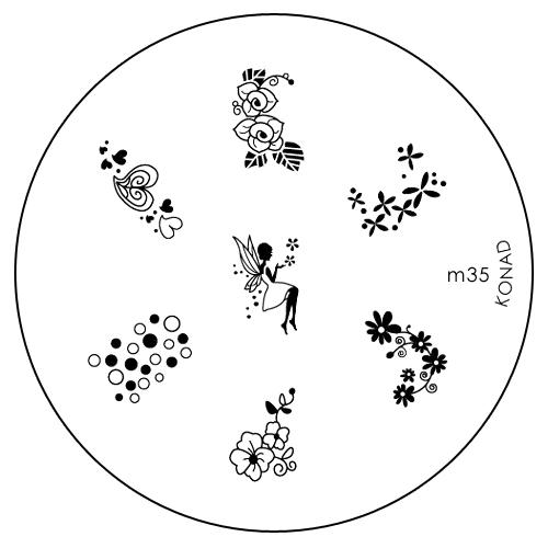 Konad Печатная форма (диск) M35 image plateSN-IPM035Диск для стемпинга. Теперь создавать дизайны на ногтях стало очень просто
