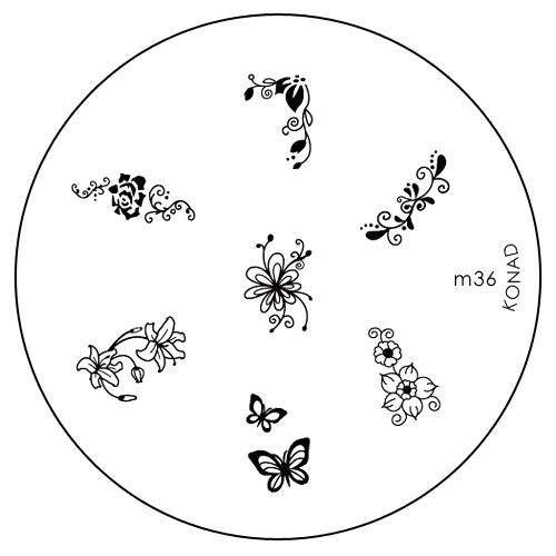 Konad Печатная форма (диск) M36 image plateSN-IPM036Диск для стемпинга. Теперь создавать дизайны на ногтях стало очень просто