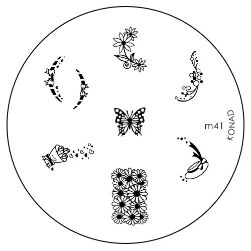Konad Печатная форма (диск) M41 image plateSN-IPM041Диск для стемпинга. Теперь создавать дизайны на ногтях стало очень просто