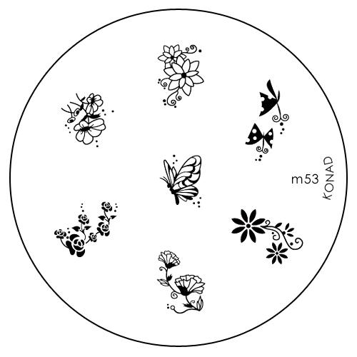Konad Печатная форма (диск) M53 image plateSN-IPM053Диск для стемпинга. Теперь создавать дизайны на ногтях стало очень просто