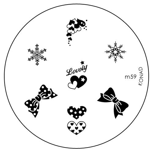 Konad Печатная форма (диск) M59 image plateSN-IPM059Диск для стемпинга. Теперь создавать дизайны на ногтях стало очень просто