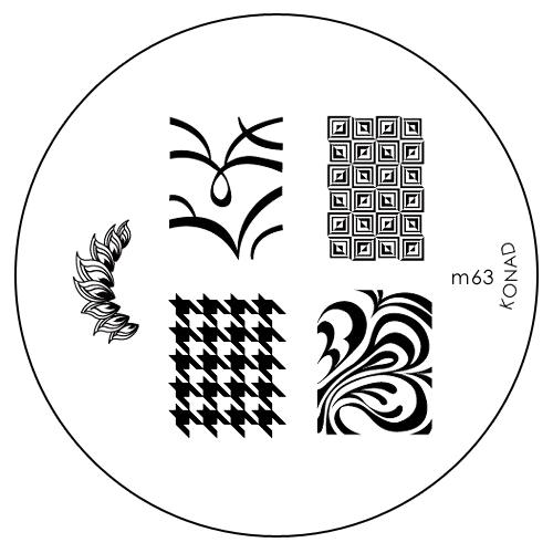 Konad Печатная форма (диск) M63 image plateSN-IPM063Диск для стемпинга. Теперь создавать дизайны на ногтях стало очень просто