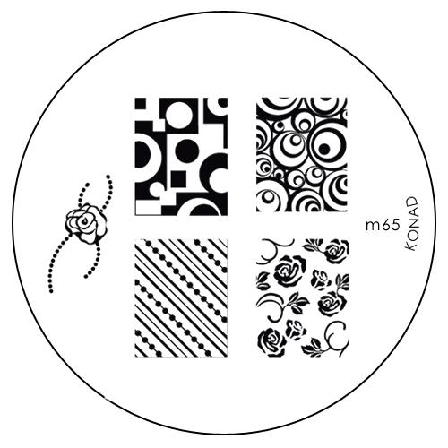 Konad Печатная форма (диск) M65 image plateSN-IPM065Диск для стемпинга. Теперь создавать дизайны на ногтях стало очень просто