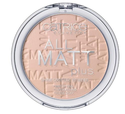 CATRICE Пудра компактная All Matt Plus Shine Control Powder 015 Natural Beige натуральный бежевый, 10гр