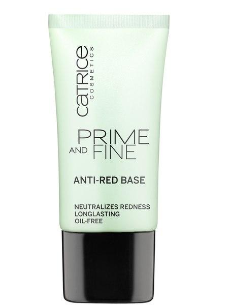 CATRICE Основа выравнивающая Prime And Fine Anti-Red Base, 30мл76885Мягкий праймер нейтрализует покраснения и мелкие несовершенства кожи! А также замаскирует расширенные поры и мелкие морщинки!