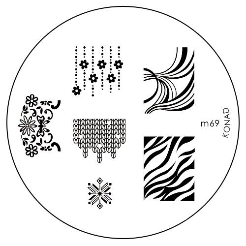Konad Печатная форма (диск) M69 image plateSN-IPM069Диск для стемпинга. Теперь создавать дизайны на ногтях стало очень просто
