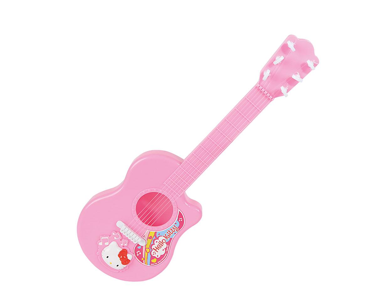 Simba Гитара Hello Kitty6835367Гитара Simba Hello Kitty обязательно понравится вашей малышке. Гитара розового цвета выполнена из качественного пластика и украшена изображением кошечки Китти. Игрушечный музыкальный инструмент имеет струны, степень натяжения которых можно регулировать с помощью колок на головке грифа. С помощью этой игрушки малышка сможет представить себя знаменитой артисткой, и будет устраивать выступления для родителей и друзей. Музыкальные инструменты обязательно должны быть среди игрушек ребенка, ведь они являются средством эстетического развития личности. Сделайте вашей малышке такой замечательный подарок!