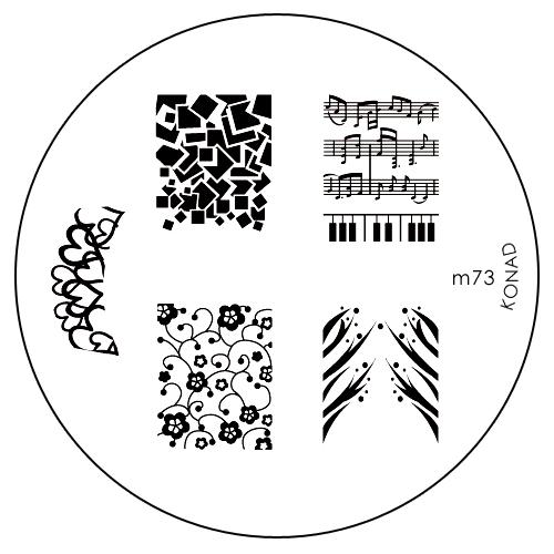 Konad Печатная форма (диск) M73 image plateSN-IPM073Диск для стемпинга. Теперь создавать дизайны на ногтях стало очень просто