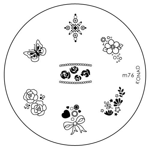 Konad Печатная форма (диск) M76 image plateSN-IPM076Диск для стемпинга. Теперь создавать дизайны на ногтях стало очень просто