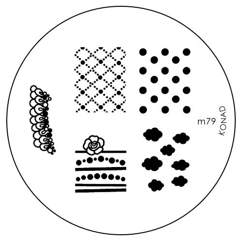Konad Печатная форма (диск) M79 image plateSN-IPM079Диск для стемпинга. Теперь создавать дизайны на ногтях стало очень просто