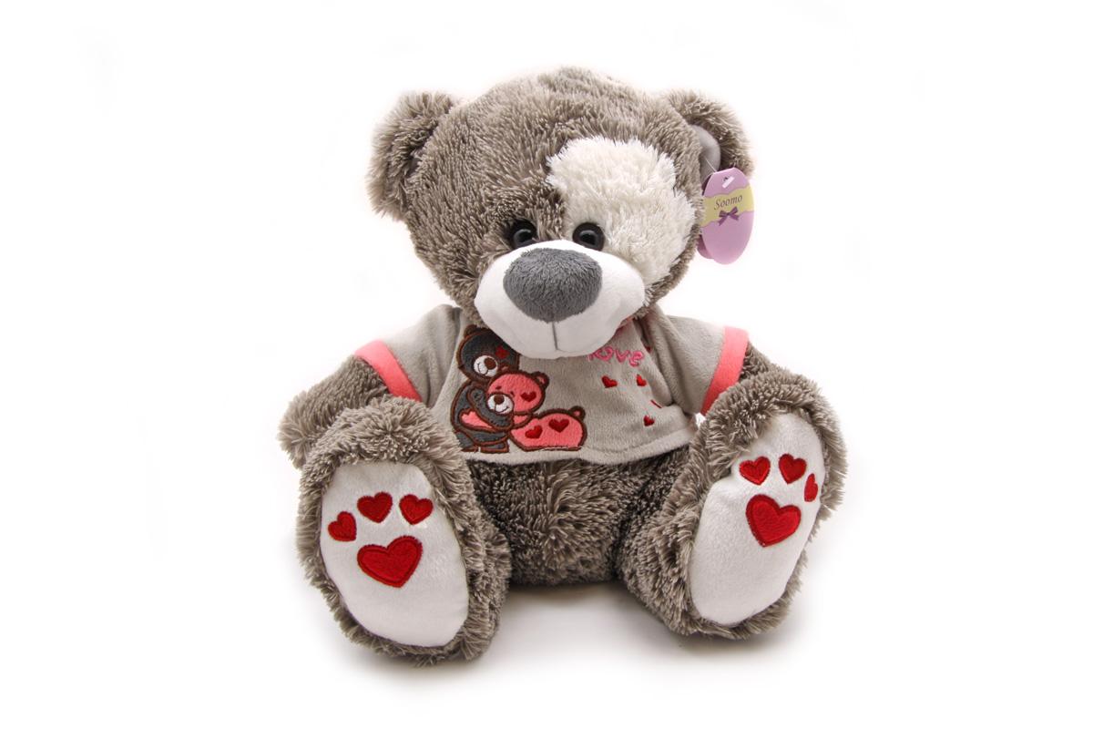 Soomo Мягкая игрушка Мишка Пятнышко в сердечках011СВХ164