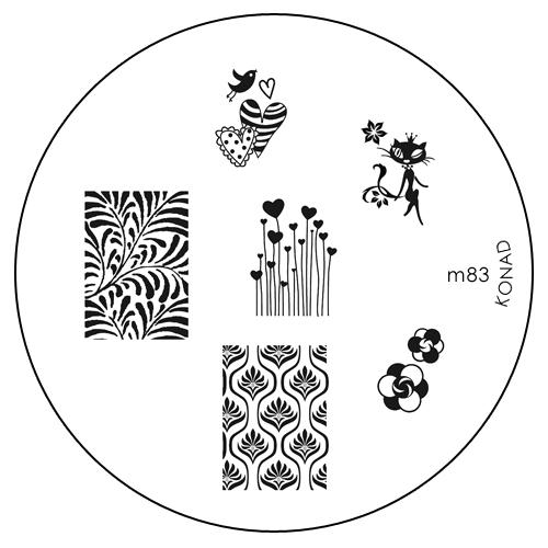 Konad Печатная форма (диск) M83 image plateSN-IPM083Диск для стемпинга. Теперь создавать дизайны на ногтях стало очень просто