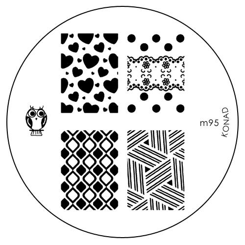 Konad Печатная форма (диск) M95 image plateSN-IPM095Диск для стемпинга. Теперь создавать дизайны на ногтях стало очень просто