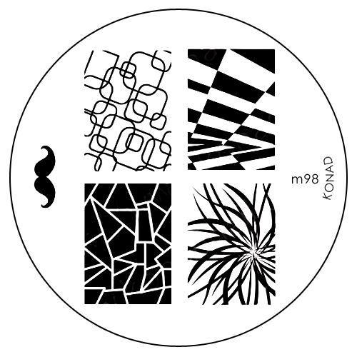 Konad Печатная форма (диск) M98 image plateSN-IPM098Диск для стемпинга. Теперь создавать дизайны на ногтях стало очень просто