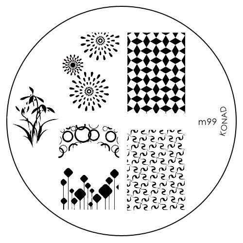 Konad Печатная форма (диск) M99 image plateSN-IPM099Диск для стемпинга. Теперь создавать дизайны на ногтях стало очень просто