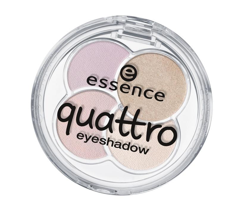 essence Тени для век QUATTRO т.17, 5гр51605Cочетание четырех восхитительных оттенков позволят создать любой тип макияжа – утонченный дневной или изысканный вечерний Шелковистая текстура Идеально сохраняются в течение всего дня
