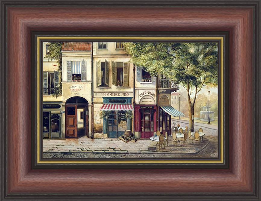 Парижское кафе (Fabrice de Villeneuve)17x22 D0760-41418Художественная репродукция картины Fabrice De Villeneuve Cafe de Paris. Размер постера: 17 см х 22 см. Артикул: 17x22 D0760-41418