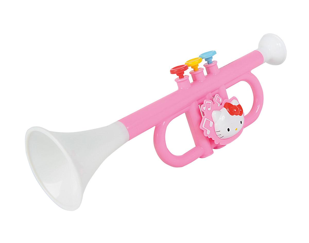 Simba Труба Hello Kitty6835437Труба Simba Hello Kitty обязательно понравится вашей малышке. Труба бело-розового цвета выполнена из качественного пластика и украшена изображением кошечки Китти. Игрушечный музыкальный инструмент имеет три кнопки, которые пружинят при нажатии. С помощью этой игрушки малышка сможет представить себя знаменитой артисткой, и будет устраивать выступления для родителей и друзей. Музыкальные инструменты обязательно должны быть среди игрушек ребенка, ведь они являются средством эстетического развития личности. Сделайте вашей малышке такой замечательный подарок!