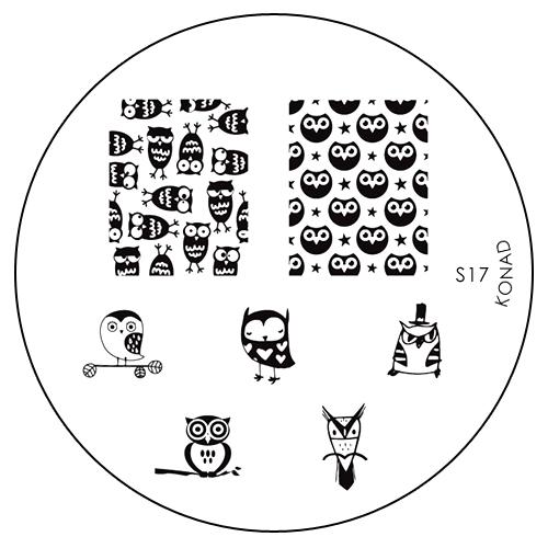 Konad Печатная форма (диск) S17 image plateSN-IPM-S17Диск для стемпинга. Теперь создавать дизайны на ногтях стало очень просто