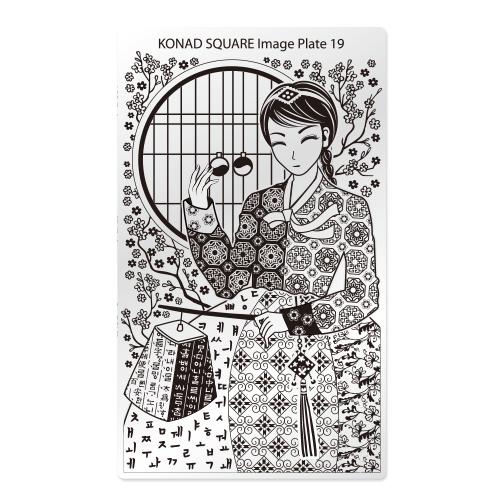 Konad Square Пластина для степинга Square Image Plate19SN-SIP19Плитка для стемпинга. Больше узоров, больше творчества. Нанести лак на диск для стемпинга, убрать излишки скрапером, отпечатать на штамп и перенести на ноготь.