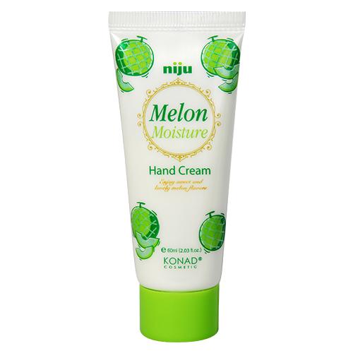 Konad Крем для рук увлажняющий с экстрактом niju Moisture hand cream - melon 60 млNJ-HCR05Увлажняющий крем для рук Дыня 50 ml Крем для рук с ароматом дыни сохраняет вашу кожу влажной и упругой, защищает от вредного воздействия окружающий среды. Крем содержит натуральное оливковое масло, экстракт дыни, пчелиный воск и масло Ши. Способ применения Наносить крем на очищенную кожу до полного впитывания