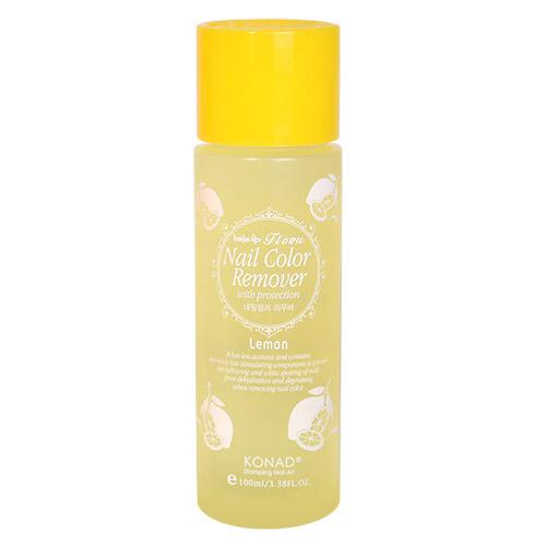 Konad Жидкость для снятия лака Лемон Nail Protection 100 - Lemon 100 млNA-NRP02Жидкость для снятия лака невероятным ароматом лимонада, мягкая формула бережно удаляет лак. Препятствует появлению желтых и белых пятен на руках.