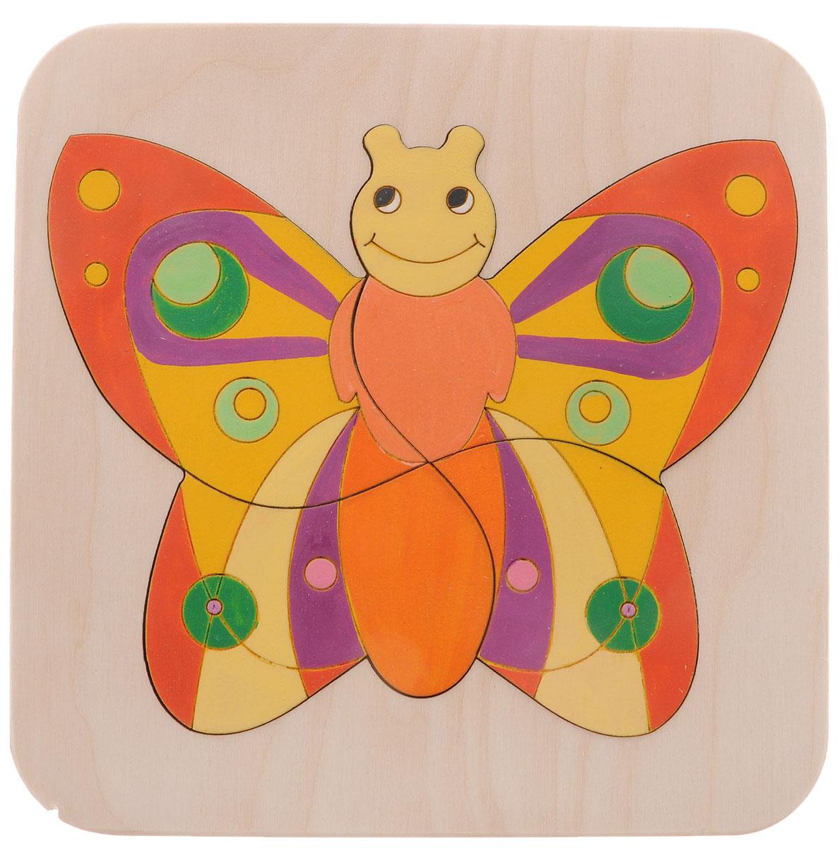 Таис Пазл Бабочка 3DЦПБ3DМудрые родители выбирают для своих малышей игрушки, которые обучают малыша в процессе увлекательной игры, формируют его внутренний мир и не наносят вред здоровью. Деревянный пазл Таис Бабочка 3D, детали которого изготовлены из высококачественной древесины - это не просто яркий предмет, способный надолго увлечь ребенка. Представлен в виде основы и 4 различных фигур, собрав которые, ребенок получит картинку с изображением яркой бабочки. Пазл Бабочка 3D совершенствует способность фиксировать взгляд на мелких предметах и помогает на интуитивном уровне овладевать умением обобщать и сортировать предметы на основе их сходства или различия по форме.
