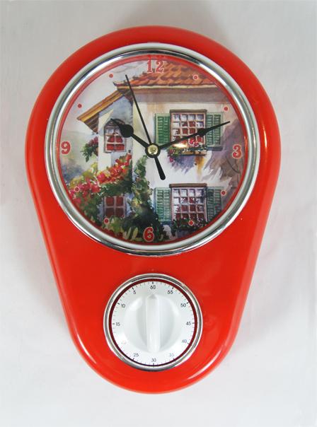 Кухонные настенные часы Дом арт.37386 (16*5*23см, с таймером без элемента питания) / 16*5*23 арт.3738637386Кухонные настенные часы Дом арт.37386 (16*5*23см, с таймером без элемента питания) / 16*5*23 арт.37386 Материал: пластик; цвет: мультиколор