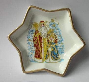 Декоративная тарелка-26074 (15х15х2,5см) (керамика)