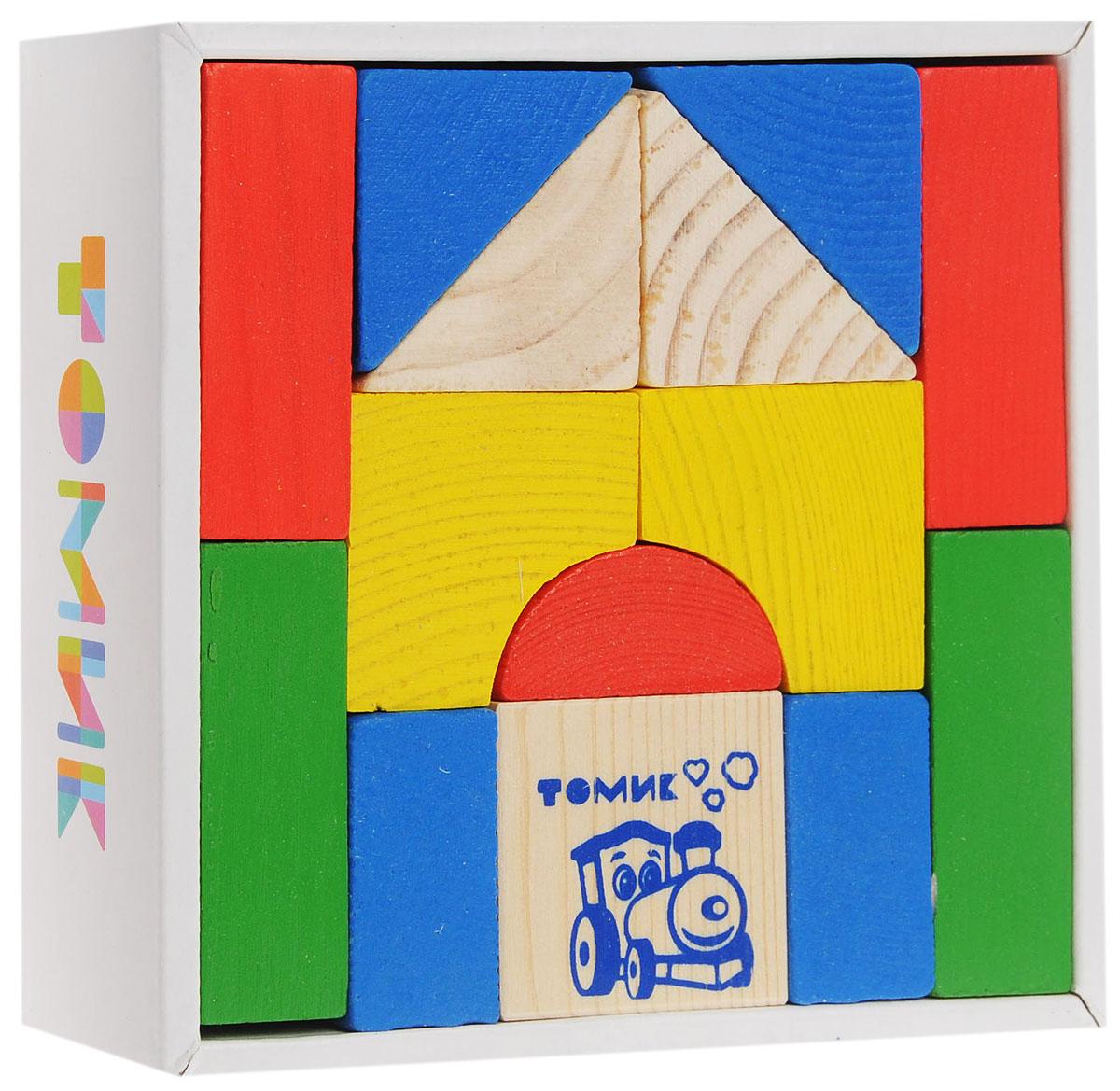 Томик Конструктор Цветной6678-14Конструктор Томик Цветной состоит из 14 цветных и неокрашенных деталей. Все элементы изготовлены из экологически чистого дерева, краски не токсичные и безопасны для ребенка. С таким конструктором ребенок с удовольствием построит башни, красивые арки, мостики, а если дополнить набор другими конструкторами, то можно сотворить великолепный замок или крепость. Такая игра развивает пространственное мышление, фантазию, умение использовать форму предмета, моторику, координацию, приучает ребенка к усидчивости.
