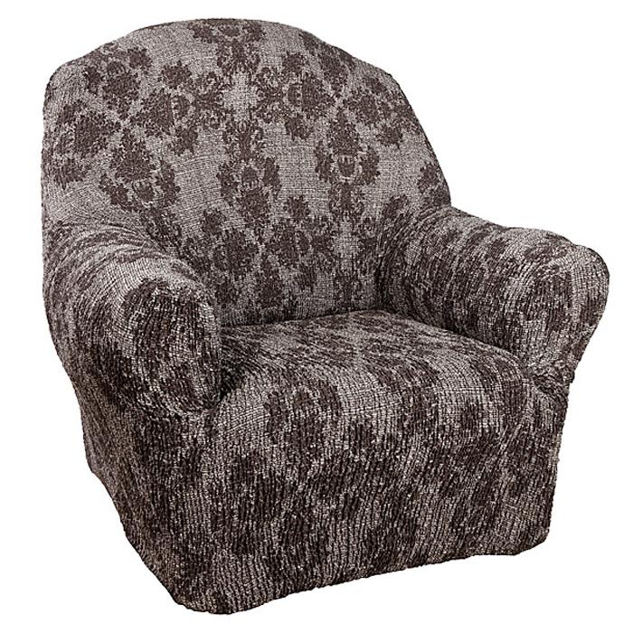 Чехол на кресло Еврочехол Плиссе Версаль, цвет: светло-серый, коричневый, 60-100 см7/55-1Чехол на кресло Еврочехол Плиссе Версаль выполнен из 50% хлопка и 50% полиэстера. Такой состав ткани гипоаллергенен, а потому безопасен для малышей или людей пожилого возраста. Такой чехол защитит вашу мебель от повседневных воздействий. Дизайн чехла отлично впишется в интерьер, выполненный из натуральных материалов. Приятный оттенок придаст ощущение свежести и единения с природой. Чехол Плиссе Версаль - отличный вариант для мебели в гостиной, кухне, спальне, детской или прихожей! Интерьер в стиле эко, кантри, фьюжн, хай-тек, скандинавских мотивов и других. Утонченный итальянский дизайн чехла отлично впишется в городские и загородные дома. Гарантированное итальянское качество производства обеспечит долгое пользование. Растяжимость чехла по спинке (без учета подлокотников): 60-100 см.
