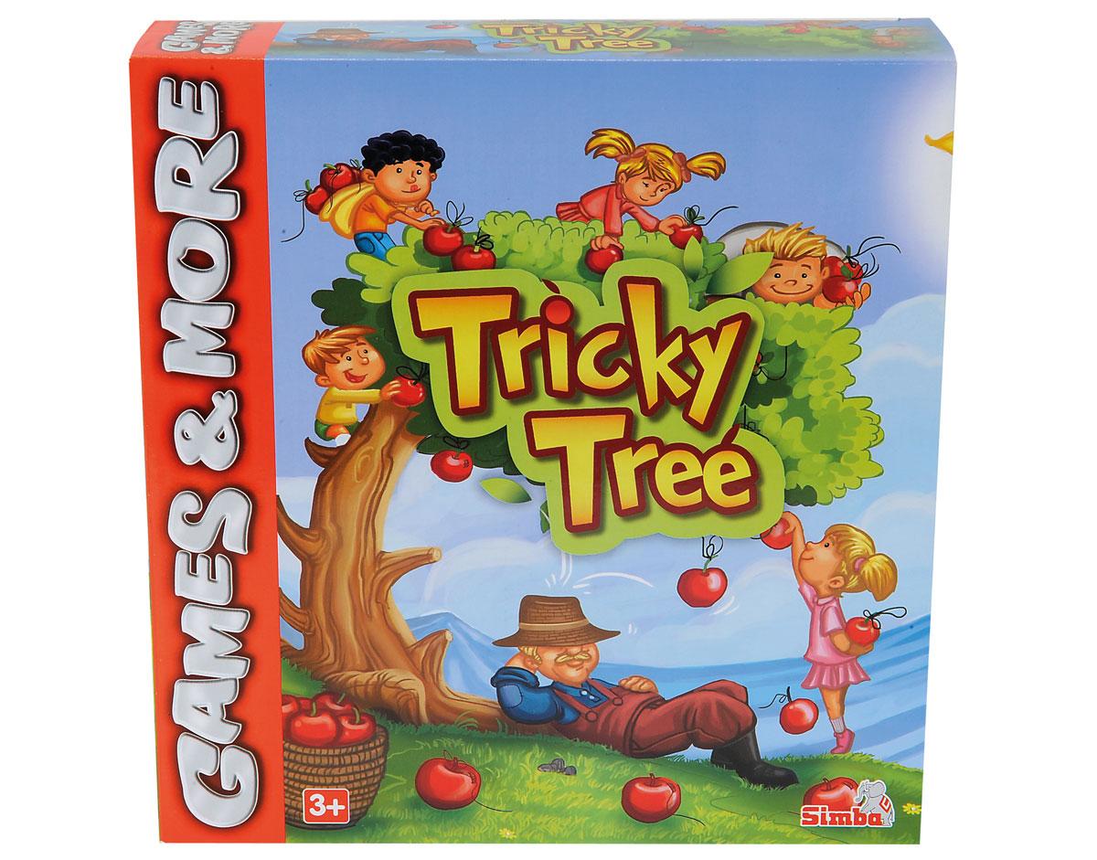 Simba Настольная игра Хитрое дерево6065413Настольная игра Simba Хитрое дерево привлечет внимание, как ребенка, так и взрослого. Она представляет собой веселую развивающую игру для детей от 3 лет. На кроне ветвистого дерева находятся яркие рисунки, которые соответствуют картинкам, нанесенным на кубики. Каждому игроку нужно кинуть кубик, а затем поставить фишку на фигурку, которая выпала. Суть игры заключается в аккуратном обращении с фишками, чтобы крона дерева не упала. Кто уронит дерево, тот и проиграл. Настольная игра Simba Хитрое дерево, выполненная из безопасного материала, отлично подходит для развития мелкой моторики рук, воображения и внимательности малышей.