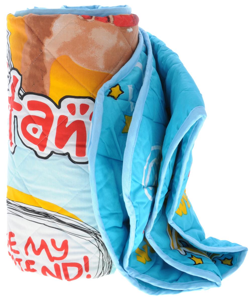 Letto Детское одеяло-покрывало Хот-дог 140 см х 200 смОдеяло-покрывало хот-догДетское одеяло-покрывало Letto Хот-дог с изображением забавной собаки будет радовать вашего малыша в любое время года. Сидеть на таком покрывале будет приятно и комфортно - ведь оно выполнено из 100% хлопка. К тому же одеяло можно использовать и как покрывало на детскую кровать. Наполнитель - силиконизированное волокно. Это полое спиралеобразное волокно. Полая структура позволяет силиконовому волокну хорошо пропускать воздух, испаряя влагу, и задерживать тепло. Вашему ребенку не будет жарко под таким одеялом, а это значит от не будет раскрываться. Одеяло сохраняет свою форму даже при длительной эксплуатации, после многочисленных стирок. Поставляется одеяло в сумке-чехле. Изделие подлежит машинной стирке строго на деликатном режиме 30 градусов.