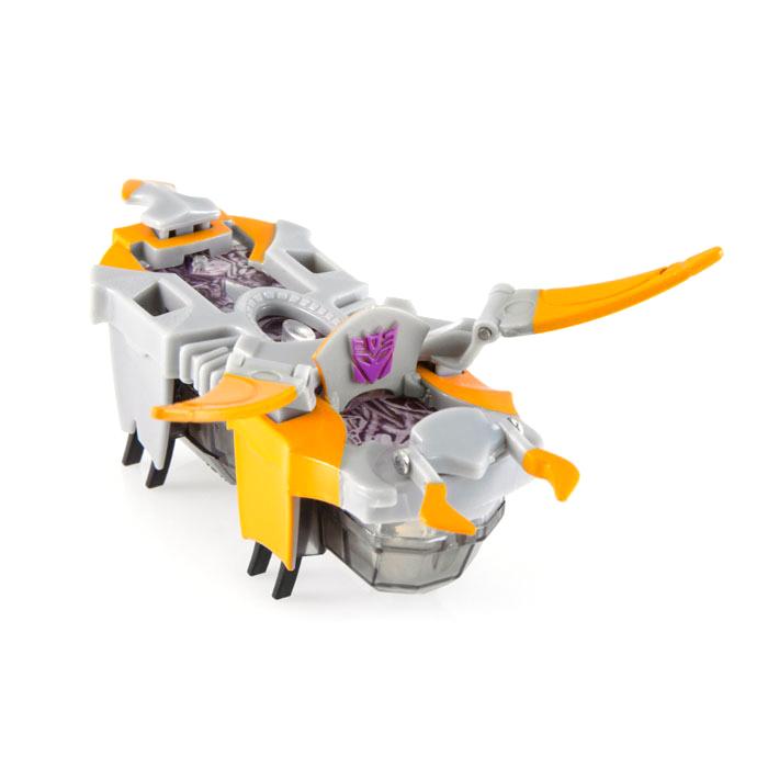 Hexbug Микро-робот Galvatron477-3158_4_оранжевыйМикро-робот Hexbug Galvatron - предводитель Десептиконов, главный противник Optimus Prime. Имеет яркую серо-оранжевую окраску, главное оружие - длинные боковые сабли. Оснащен скрытым всплывающим элементом, на котором изображена эмблема Десептиконов. Микро-робот имеет 2 режима игры: тестовый, при котором микро-робот хаотично двигается, и боевой. В режиме боя на спине микро-робота активируется индикатор уровня жизни, олицетворяющий собой искру. При получении урона, зеленый индикатор становится желтым, а в дальнейшем - красным. После получения критического урона происходит деактивация Десептикона. С Hexbug Galvatron ваш ребенок получит массу удовольствия от игрового процесса! Рекомендуется докупить 2 батарейки типа AG13 (входят в комплект).