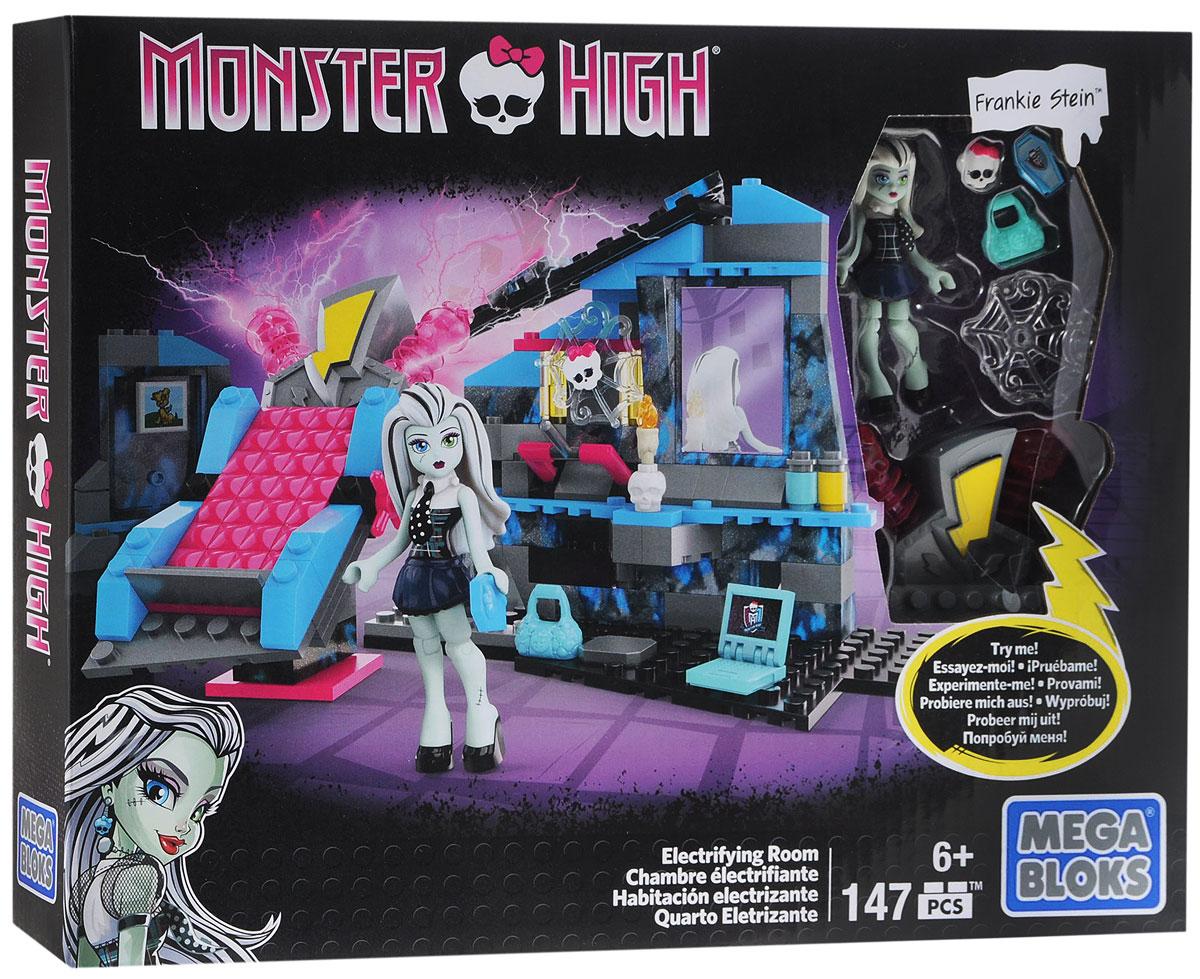 Mega Bloks Monster High Конструктор Комната Фрэнки ШтейнCNF81Конструктор Комната Фрэнки Штейн обязательно порадует маленьких поклонниц героинь Monster High. В конструктор входит фигурка Френки Штейн с подвижными частями тела и сборная спальня. Кровать Френки может вращаться. В спальне имеется секретный отсек, в котором спрятано множество аксессуаров и портрет любимого питомца Френки. Игрушка выполнена из высококачественного пластика. Игра с конструктором способствует развитию мелкой моторики, воображения, творческого мышления. Набор Комната Фрэнки Штейн совместим с другими наборами Monster High от Mega Bloks. Собери свою собственную коллекцию девочек-монстров!