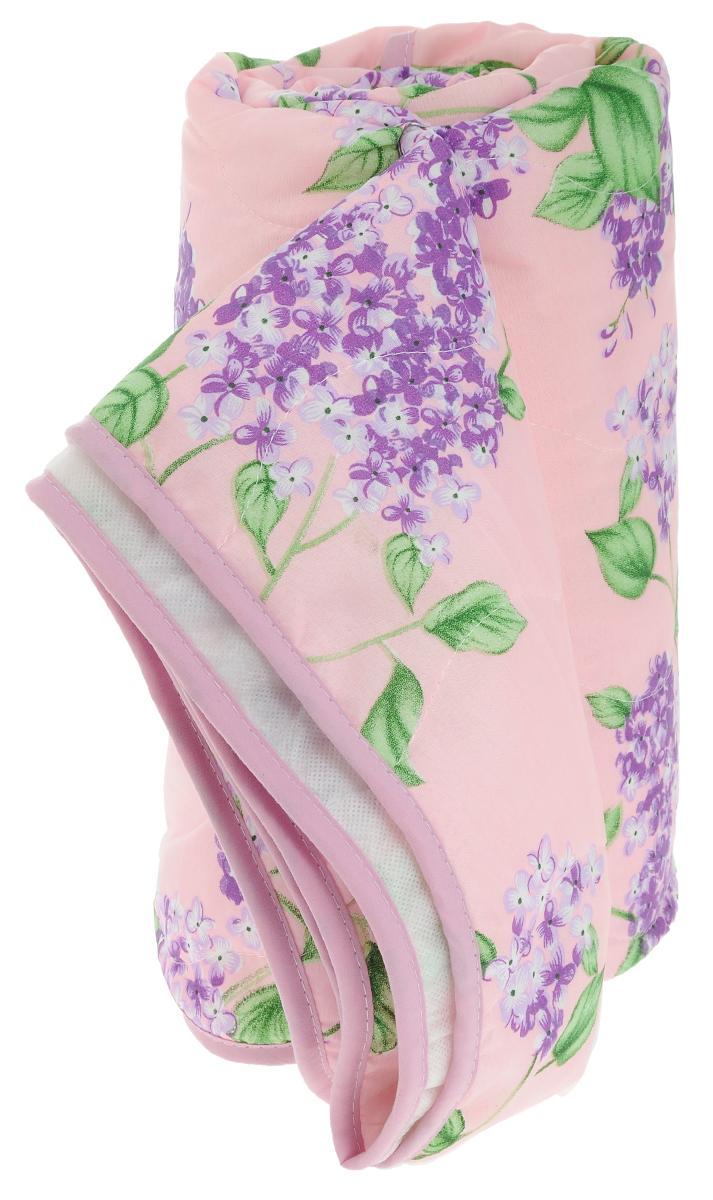 Покрывало стеганое Сирень, цвет: розовый, 180 х 200 смПСс-180-200_розовыйСтеганое покрывало Сирень прекрасно дополнит интерьер спальни. Верх покрывала выполнен из микрофибры и украшен красивым цветочным рисунком. Внутри - наполнитель из синтепона. Фигурная стежка равномерно удерживает наполнитель в чехле, а окантовка держит форму изделия. Красивое покрывало создаст атмосферу уюта и комфорта в спальне. Рекомендации по уходу: - Ручная и машинная стирка при температуре 40°С. - Гладить при низкой температуре. - Не отбеливать. - Химчистка любым растворителем. Материал верха: микрофибра (100% полиэстер). Наполнитель: синтепон.