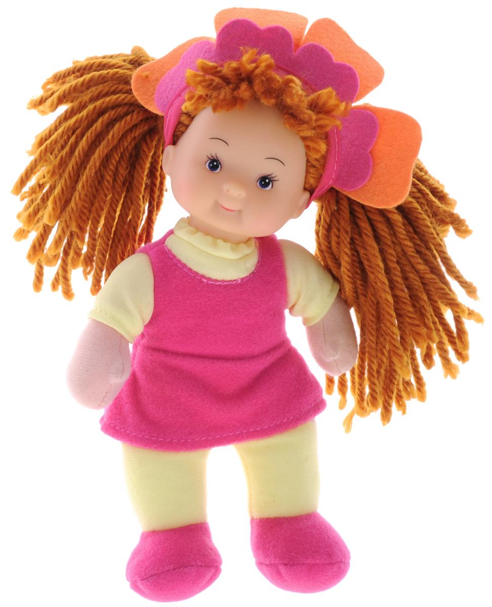 Simba Кукла мягкая Little Flower цвет платья желтый розовый5017262_розовый, желтыйКукла Simba Little Flower непременно приведет в восторг вашу дочурку. Голова куклы выполнена из пластика, а тело - мягконабивное. Кукла одета в яркое розовое платье, на голове у нее - объемный ободок в виде цветка. Волосы куколки выполнены из шерстяных нитей, вашей малышке понравится заплетать их и придумывать различные прически. Очаровательная куколка принесет радость и подарит своей обладательнице мгновения нежных объятий. Игры с куклой способствуют эмоциональному развитию, помогают формировать воображение и художественный вкус, а также разовьют в вашей малышке чувство ответственности и заботы. Великолепное качество исполнения делают эту куколку чудесным подарком к любому празднику.