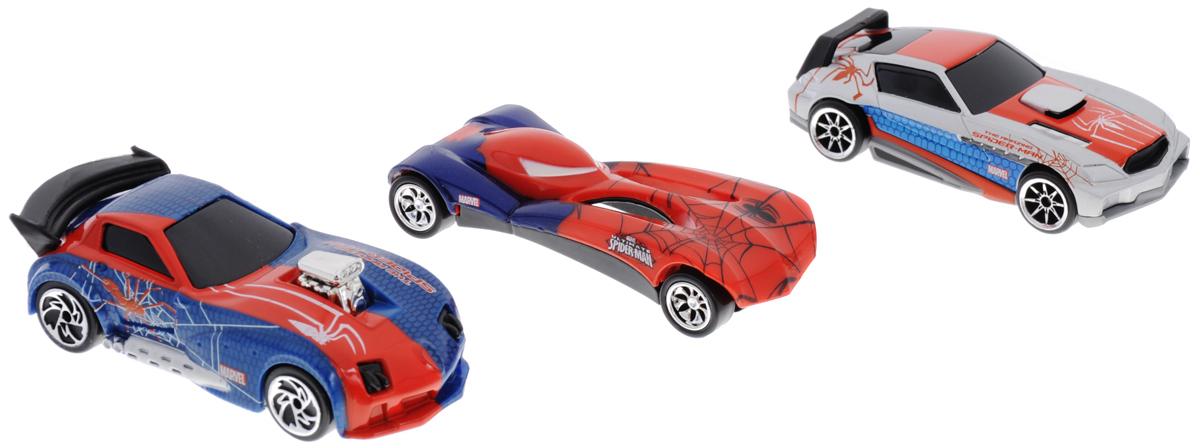 Majorette Набор машинок Человек Паук цвет красный синий серебристый 3 шт3089811_синий, красный, стальнойНабор машинок Majorette Человек-Паук обязательно понравится вашему маленькому гонщику и надолго увлечет его. Яркие и красочные машинки выполнены из прочного безопасного пластика и оформлены в стиле Человека-Паука. Машинки имеют разную форму и станут великолепным дополнением к автопарку вашего ребенка. Машинки имеют обтекаемую форму и будут великолепно скользить по любой гладкой поверхности. Игры с такой машинкой развивают концентрацию внимания, координацию движений, мелкую и крупную моторику, цветовое восприятие и воображение. Малыш будет часами играть с этой машинкой, придумывая разные истории и разыгрывая сценки из любимых мультфильмов.
