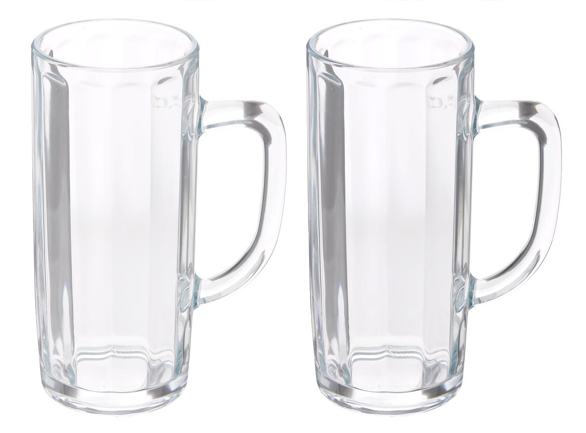 Набор кружек для пива Luminarc, 2 штE9340Набор Luminarc состоит из двух кружек, выполненных из упрочненного стекла. Кружки предназначены для подачи пива. Они сочетают в себе элегантный дизайн и функциональность. Грани кружек подчеркнут цвет напитка, а толщина стенок поможет сохранить пиво прохладным. Благодаря такому набору кружек пить напитки будет еще приятнее. Набор кружек для пива Luminarc идеально подойдет для сервировки стола и станет отличным подарком к любому празднику. Допускается мытье в посудомоечной машине. Диаметр кружек: 8 см. Высота кружек: 18,5 см.