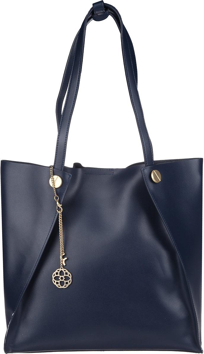Сумка женская Fiorita, цвет: темно-синий. 0667F0667F d.blueСтильная женская сумка Fiorita выполнена из натуральной кожи. Изделие имеет одно отделение. Закрывается сумка на магнитную кнопку. Сумка оснащена съемным текстильным отделением на молнии, внутри которого находится прорезной карман на застежке-молнии и два накладных открытых кармашка. Крепится отделение к сумке с помощью кнопок. Изделие оснащено двумя длинными ручками, позволяющими носить сумку на плече. Сумка упакована в фирменный чехол и украшена фирменным брелоком. Такая сумка дополнит ваш образ и подчеркнет ваше отменное чувство стиля.