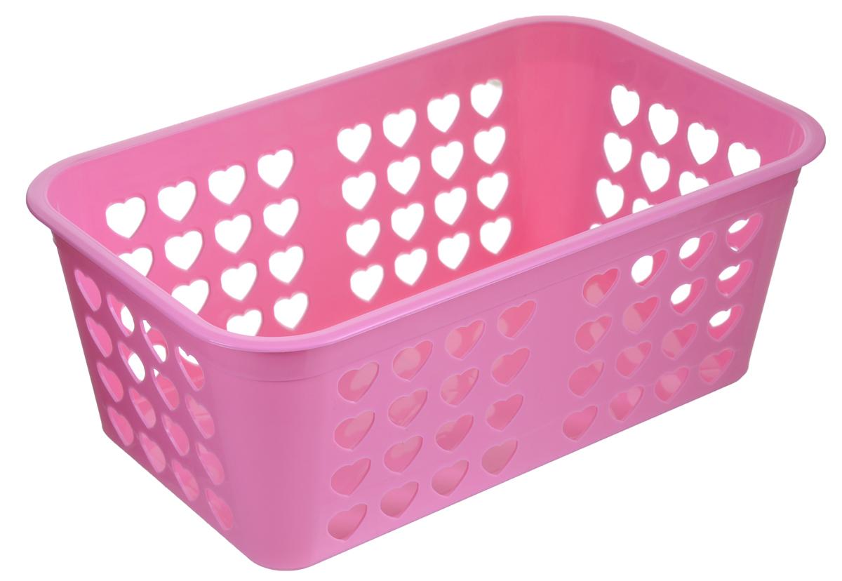 Корзина для хранения Альтернатива Вдохновение, цвет: розовый, 26,5 см х 16,5 см х 10 смМ471_розовыйПрямоугольная корзина Альтернатива Вдохновение, изготовленная из пластика, предназначена для хранения мелочей в ванной, на кухне, даче или гараже. Корзина со сплошным дном, оснащена перфорированными стенками. Элегантный выдержанный дизайн позволяет органично вписаться в ваш интерьер и стать его элементом.