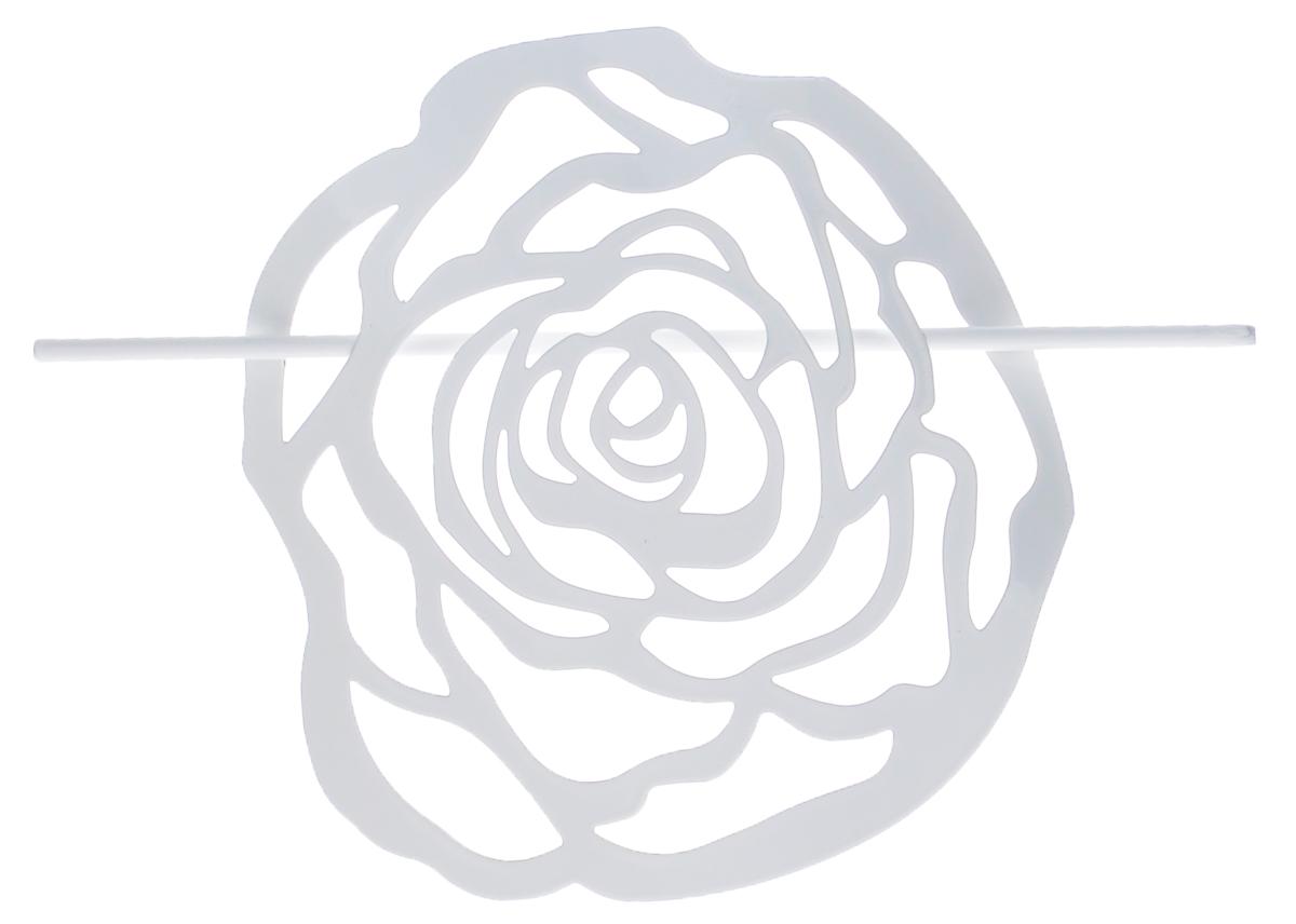 Заколка для штор Мир Мануфактуры, цвет: белый697020_1 белыйЗаколка Мир Мануфактуры, выполненная из высококачественного металла, предназначена для фиксации штор или для формирования декоративных складок на ткани. С ее помощью можно зафиксировать шторы или скрепить их, придать им требуемое положение, сделать симметричные складки. Заколка для штор является универсальным изделием, которое превосходно подойдет для любых видов штор. Заколка придаст шторам восхитительный, стильный внешний вид и добавит уют в интерьер помещения. Размер декоративного элемента: 16,5 см х 16,2 см. Длина палочки: 23 см.