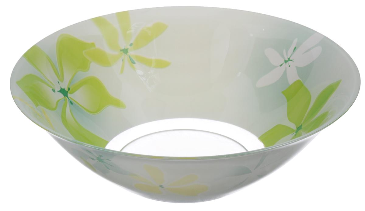 Салатник Luminarc Green Ode, диаметр 27 смG0711Салатник Luminarc Green Ode выполнен из ударопрочного стекла и декорирован изображением цветов. Яркий дизайн придется по вкусу и ценителям классики, и тем, кто предпочитает утонченность и изысканность. Салатник Luminarc Green Ode идеально подойдет для сервировки стола и станет отличным подарком к любому празднику. Диаметр (по верхнему краю): 27 см. Высота стенки: 9 см.
