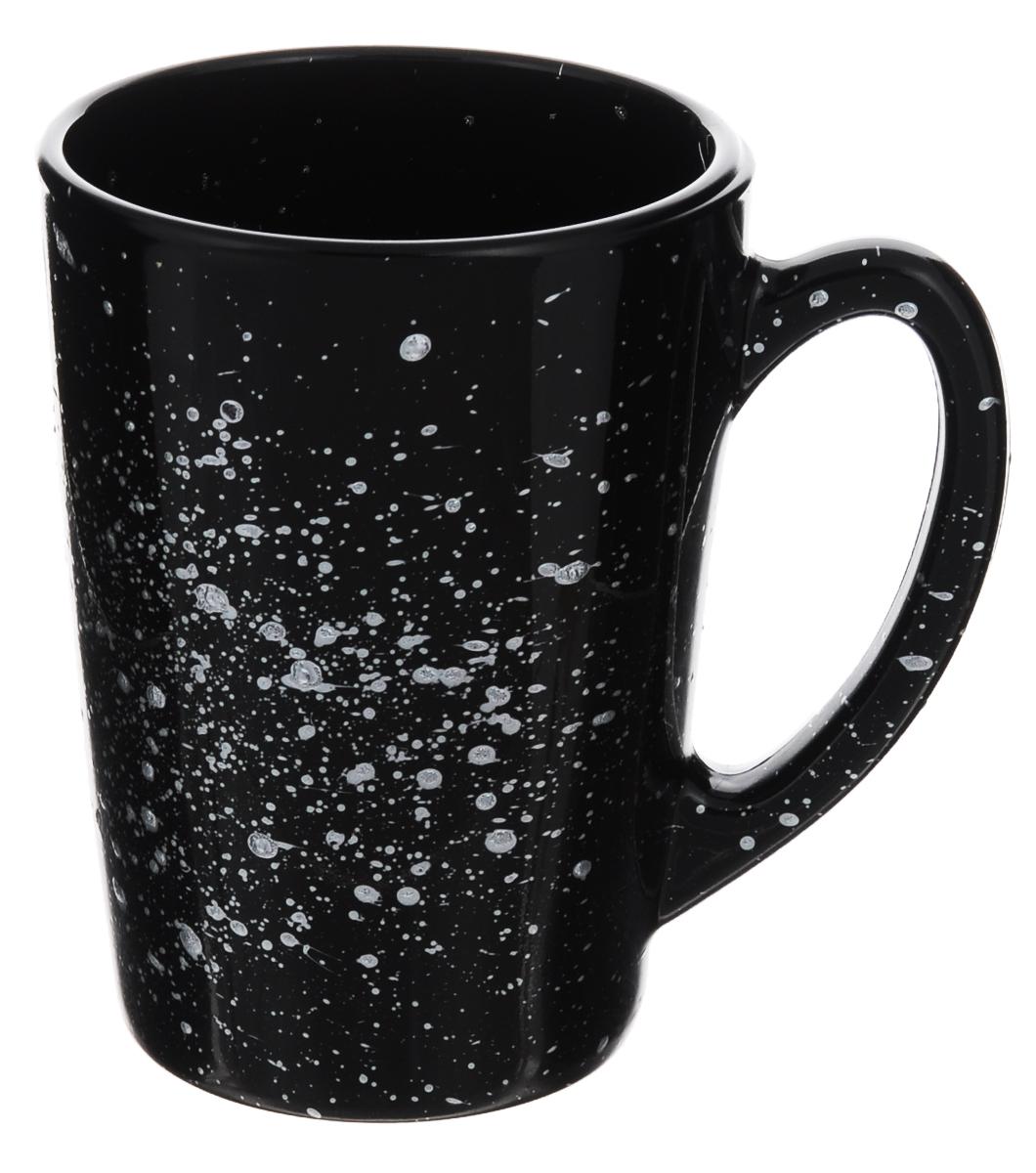Кружка Luminarc Shades Black, 320 млH8401Кружка Luminarc Shades Black изготовлена из упрочненного стекла. Такая кружка прекрасно подойдет для горячих и холодных напитков. Она дополнит коллекцию вашей кухонной посуды и будет служить долгие годы. Объем кружки: 320 мл. Диаметр кружки (по верхнему краю): 8 см. Высота стенки кружки: 11 см.