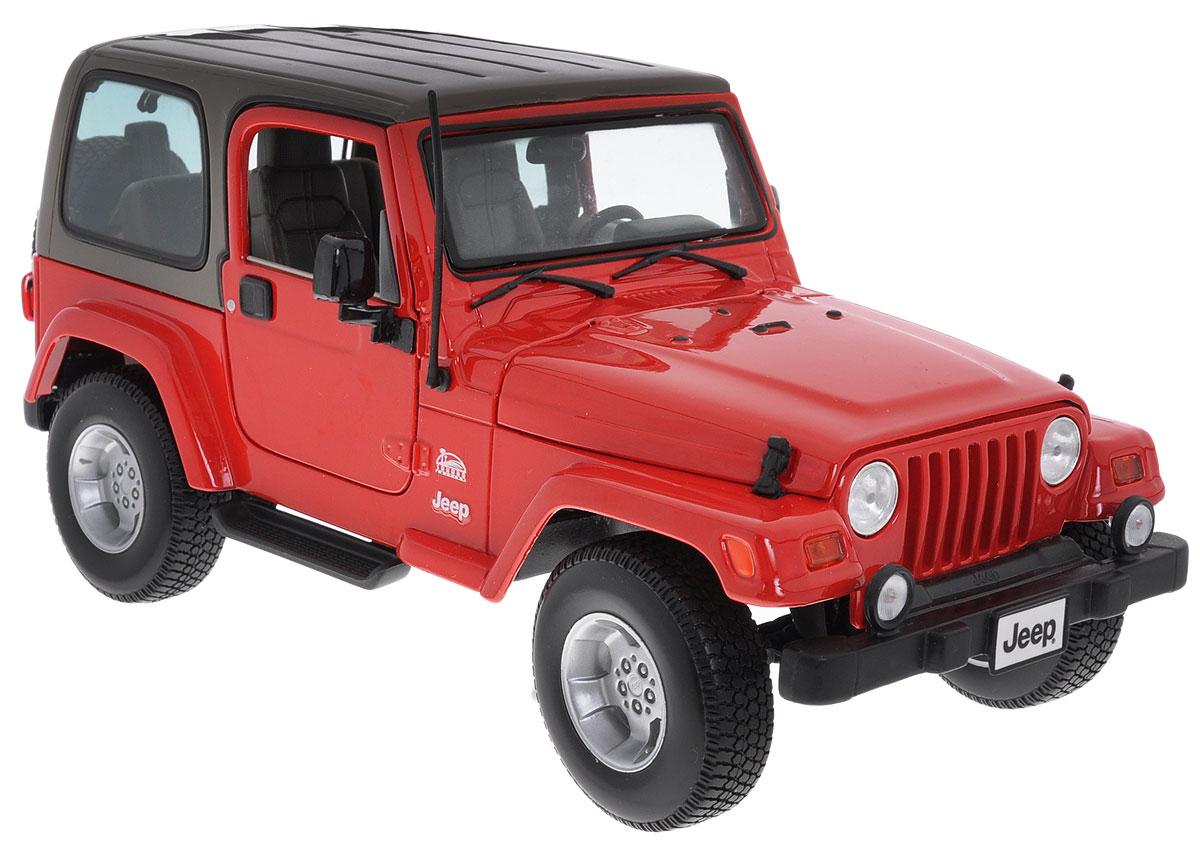 Bburago Модель автомобиля Jeep Wrangler Sahara18-12014_красныйКоллекционная модель автомобиля Bburago Jeep Wrangler Sahara будет отличным подарком как ребенку, так и взрослому коллекционеру. Благодаря броской внешности, а также великолепной точности, с которой создатели этой модели масштабом 1:18 передали внешний вид настоящего автомобиля, машинка станет подлинным украшением любой коллекции авто. Машинка будет долго служить своему владельцу благодаря металлическому корпусу с элементами из пластика. Передние двери, капот и багажник машины открываются. Шины обеспечивают отличное сцепление с любой поверхностью пола. Модель автомобиля Bburago Jeep Wrangler Sahara обязательно понравится вашему ребенку и станет достойным экспонатом любой коллекции.