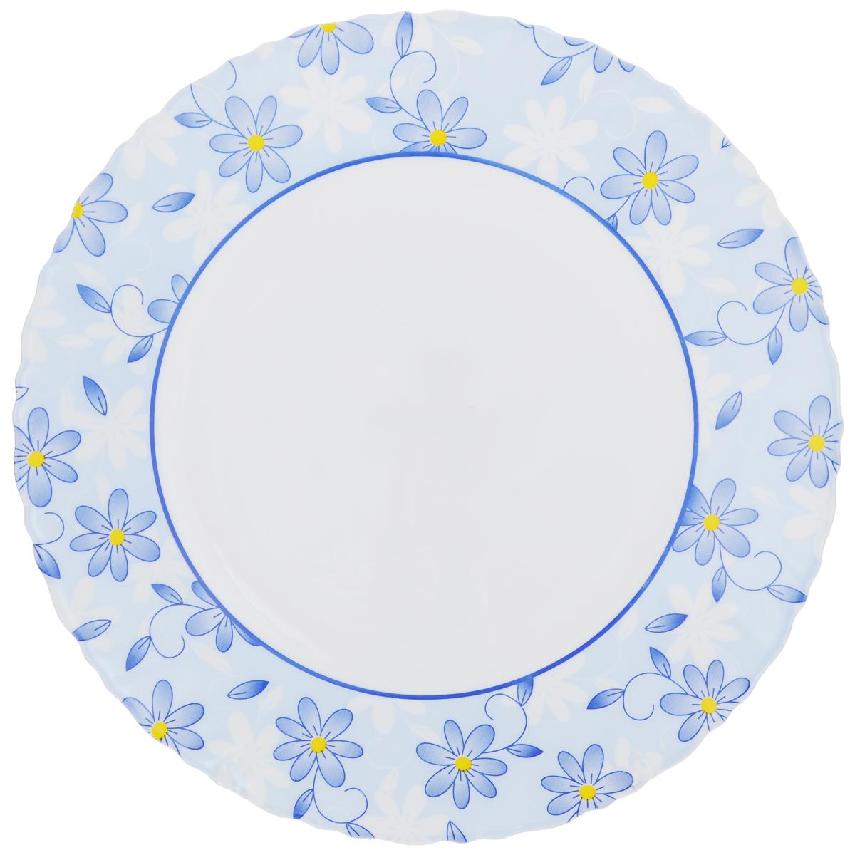 Тарелка обеденная Luminarc Gloria, диаметр 25 смK2342Обеденная тарелка Luminarc Gloria, изготовленная из высококачественного стекла, украшена ярким цветочным рисунком. Изящный дизайн придется по вкусу и ценителям классики, и тем, кто предпочитает утонченность. Тарелка Luminarc Gloria идеально подойдет для сервировки стола и станет отличным подарком к любому празднику. Диаметр (по верхнему краю): 25 см.