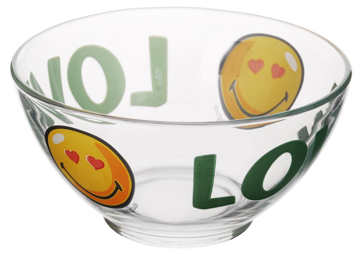 Пиала Luminarc Smiley World First, 500 млH4437Пиала Luminarc Smiley World First изготовлена из высококачественного стекла. Изделие прекрасно подойдет для салатов, супа или мороженого. Благодаря оригинальному дизайну, такая пиала станет бесспорным украшением вашего стола. Она дополнит коллекцию кухонной посуды и будет служить долгие годы. Объем пиалы: 500 мл. Диаметр пиалы (по верхнему краю): 13 см. Диаметр дна: 5 см. Высота пиалы: 7 см.