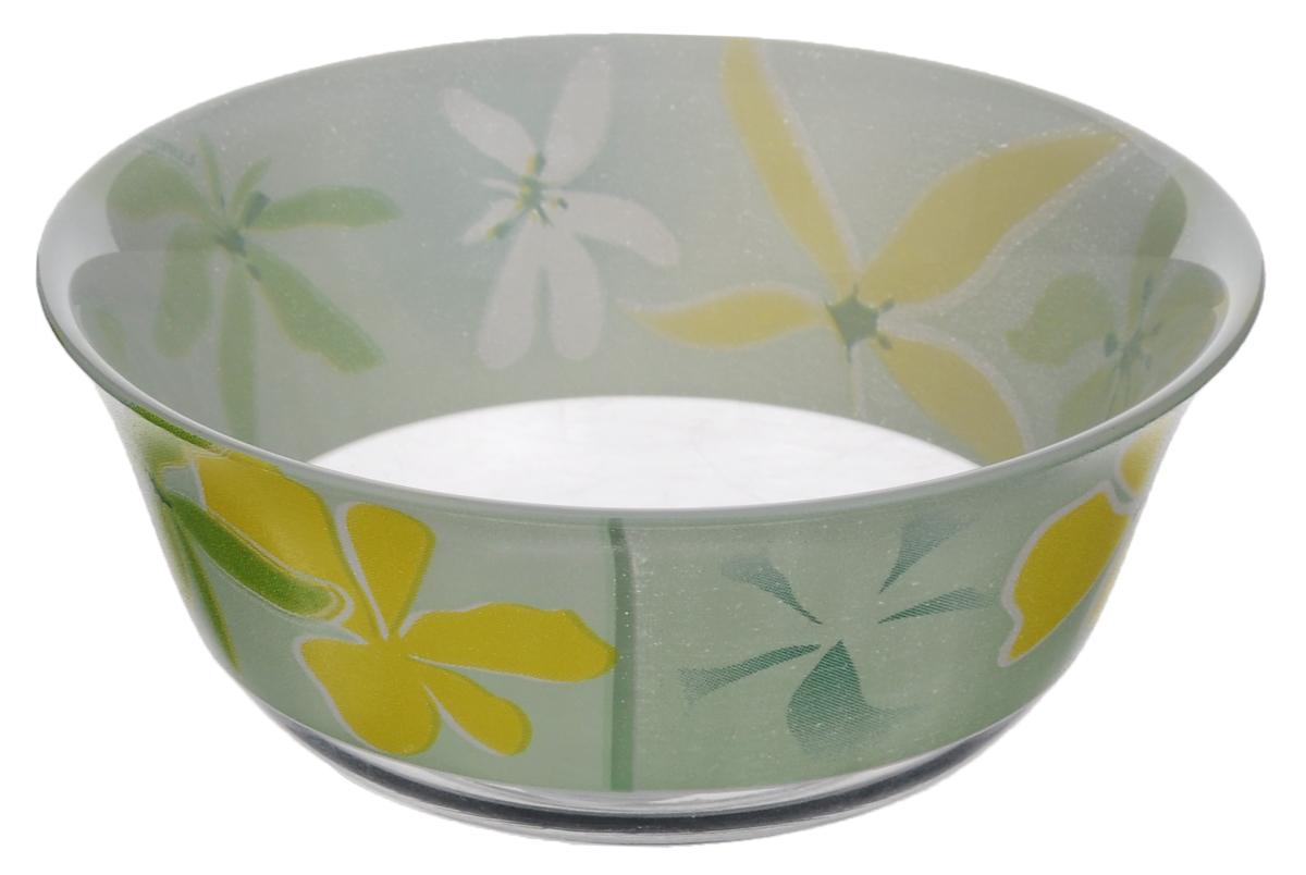 Салатник Luminarc Green Ode, диаметр 12 смJ1363Салатник Luminarc Green Ode, выполненный из ударопрочного стекла, декорирован изображением цветов. Изящный дизайн придется по вкусу и ценителям классики, и тем, кто предпочитает утонченность. Салатник Luminarc Green Ode идеально подойдет для сервировки стола и станет отличным подарком к любому празднику. Диаметр (по верхнему краю): 12 см. Высота стенки: 5,5 см.